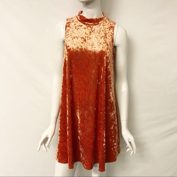 9f95065cc9d Ces Femme Dresses   Skirts - Velvet Mock Neck Trapeze Dress